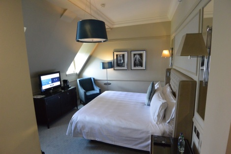 A room on the top floor of The Caledonian Hotel, Edinburgh, Scotland.