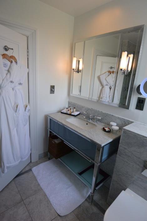 Sink in standard room at The Caledonia Hotel, Edinburgh, Scotland.