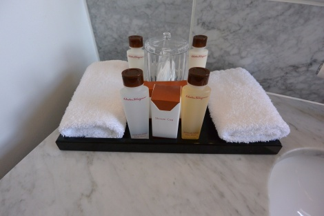 Products provided at The Caledonian Hotel, Edinburgh, Scotland.