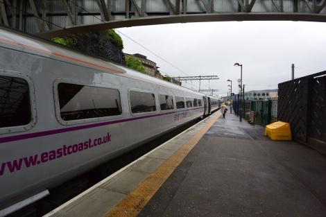 East Coast Line train, waiting at Waverly Station, Edinburgh, Scotland.