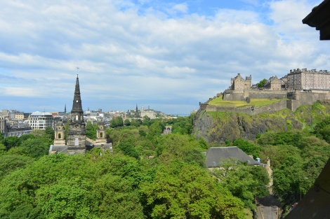 View from the room at The Caledonian, Edinburgh, Scotland.