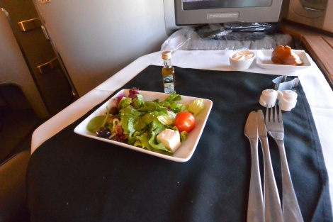 Salad aboard American Airlines Flight 56.