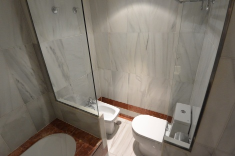 Bidet and toilet in duplex room at Hotel Pau Claris, Barcelona, Spain.