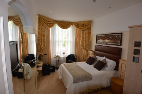 First floor room at Clarence Hotel, Windsor, England.