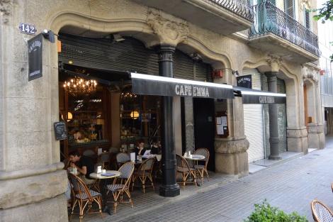 Café Emma on Pau Claris, Barcelona, Spain.