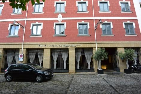 Facade of Hotel Puerta del Pamplona, formerly Puerta del Camino.
