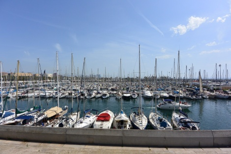 One of the marinas at Barcelona, Spain.