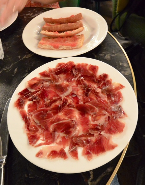 Jamón iberico at Jaime Beriestain, Barcelona, Spain.