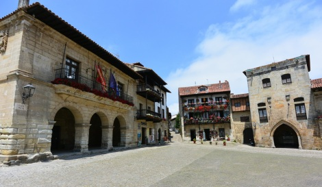 Plaza Mayor of Santillana del Mar, Spain.