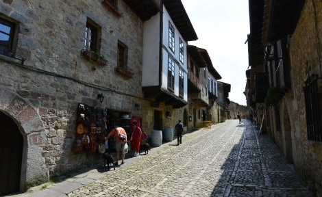 Streets of Santillana del Mar, Spain.