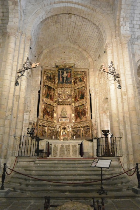 15th Century altar piece at the Collegiate Church of Santillana del Mar, Spain.