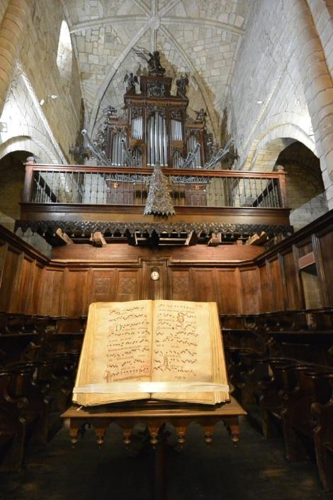 Organ pipes at the Collegiate Church of Santillana del Mar, Spain.