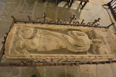 Saint Juliana at the Collegiate Church of Santillana del Mar, Spain.