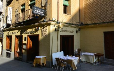 Restaurante El Bernadino, Segovia, Spain.