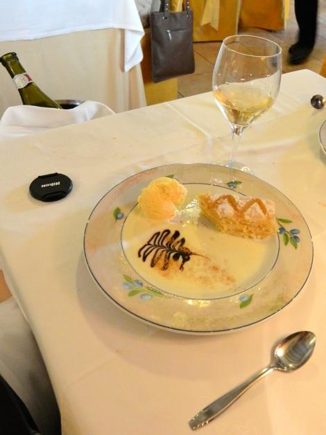 Dessert at Restaurante El Bernadino, Segovia, Spain.
