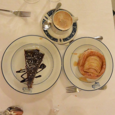 Dessert at Restaurante Botín, Madrid, Spain.