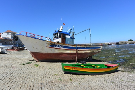 Fishing boats in Cambados, Spain.