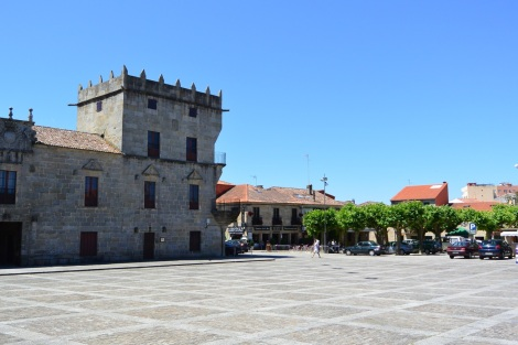 Plaza Mayor in Cambados, Spain.