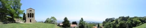 View from Santa María del Naranco, Oviedo, Spain.