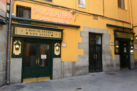 Chocolateria San Gines, Madrid, Spain.