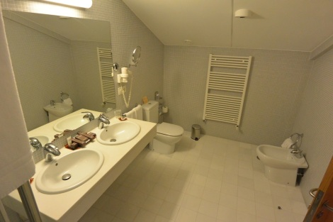 Bathroom at San Francisco Hotel Monumento, Santiago de Compostela, Spain.