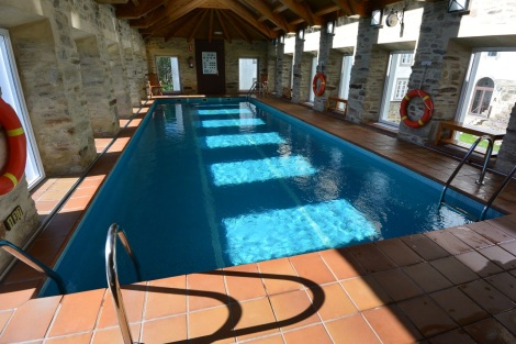 Swimming pool at at San Francisco Hotel Monumento, Santiago de Compostela, Spain.