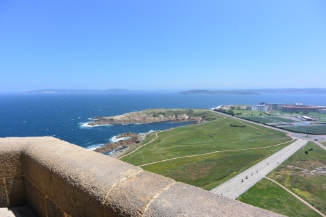 View to the north from the Tower of Hercules, A Coruña, Spain.