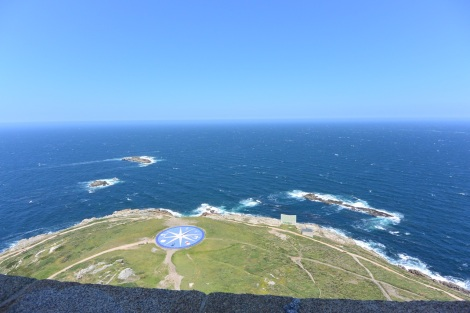 View to the east from the Tower of Hercules, A Coruña, Spain.