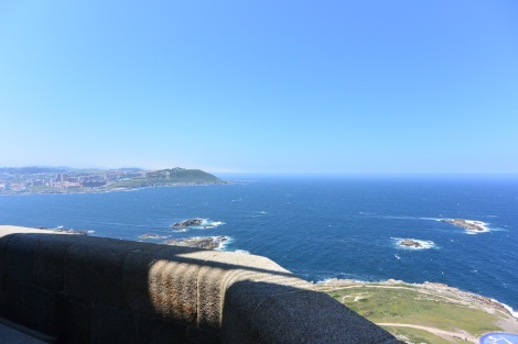 View to the south from the Tower of Hercules, A Coruña, Spain.