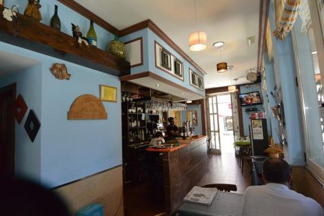Inside restaurant Esquina de Miega, Cambados, Spain.