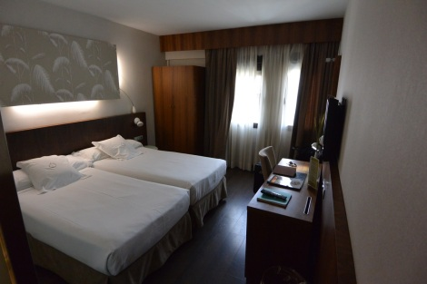 Standard room at Hotel Ópera, Madrid, Spain.