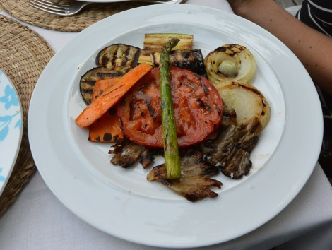 Grilled vegetables at Quinta de San Amaro, Meaño, Spain.