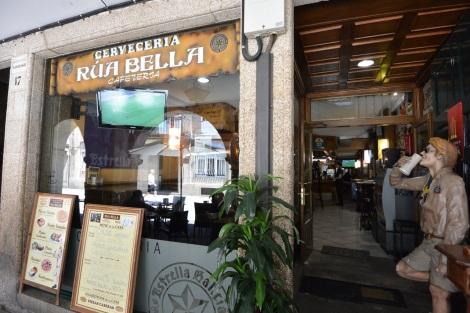 Cerveceria Rua Bella in Santiago de Compostela, Spain.
