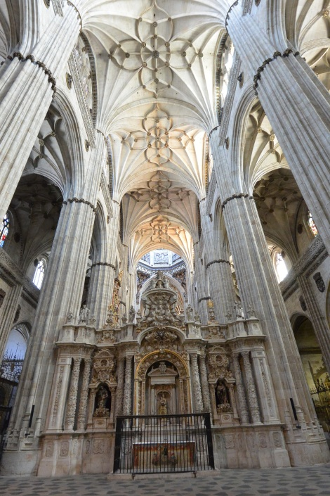 Inside Salamanca's Catedral Nueva.