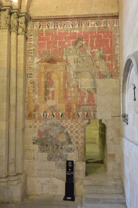 "Interior paintings, Salamanca's ""Old"" Cathedral."