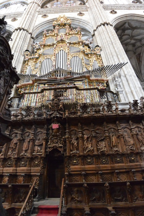 Detail from inside Salamanca's Catedral Nueva.
