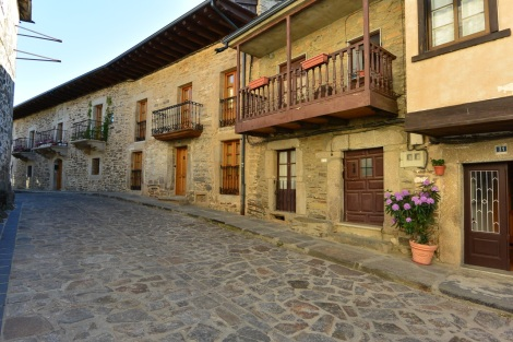 Houses in Puebla de Sanabria, Spain.