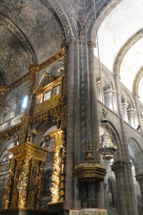 The botafumiero at the Cathedral of Santiago de Compostela, Spain.