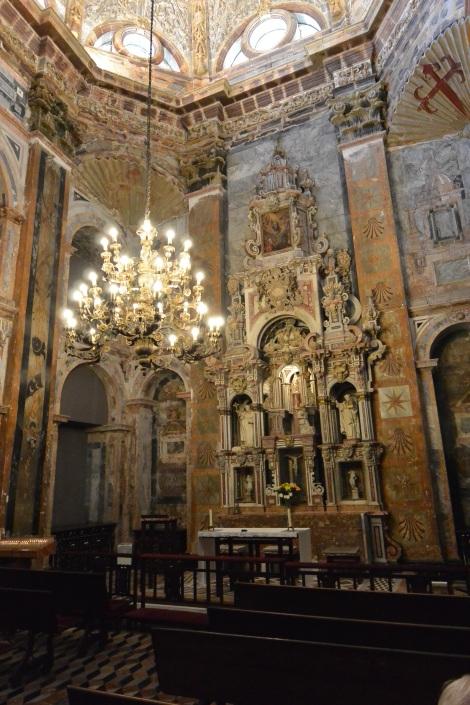 Chapel in Cathedral of Santiago de Compostela, Spain.