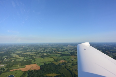 The view from a Diamond DA-40.