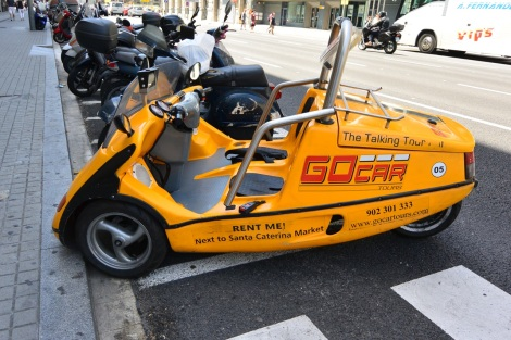 GoCar vehicle in Barcelona, Spain.