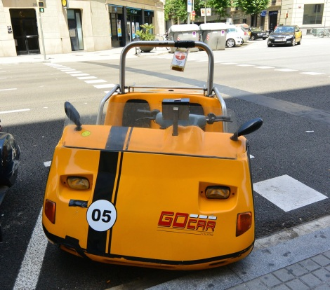 Another view of the GoCar in Barcelona, Spain.