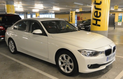3 Series BMW rented from Hertz, Barcelona, Spain.