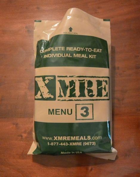 XMRE, Menu 3 before opening.
