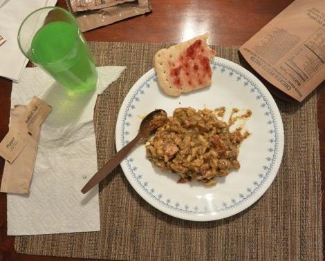 Chicken in pesto sauce from XMRE, Menu 3.