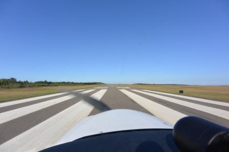 Departing Runway 29 at KZER (Schuylkill County, Joe Zerby Field).