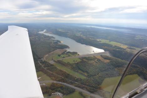 Beltsville Dam as seen from about 3,000'MSL.