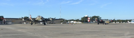 World War II bombers at Cape May Airport.