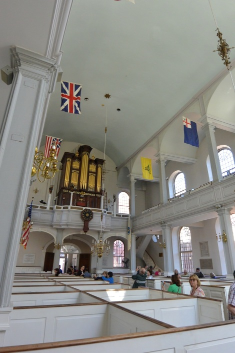 Another view of the interior of the Old North Church, Boston, MA, USA.