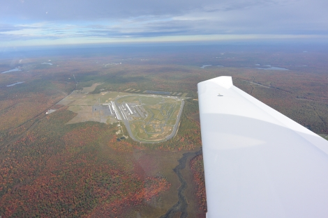 Pocono Raceway as seen from about 3,500MSL.
